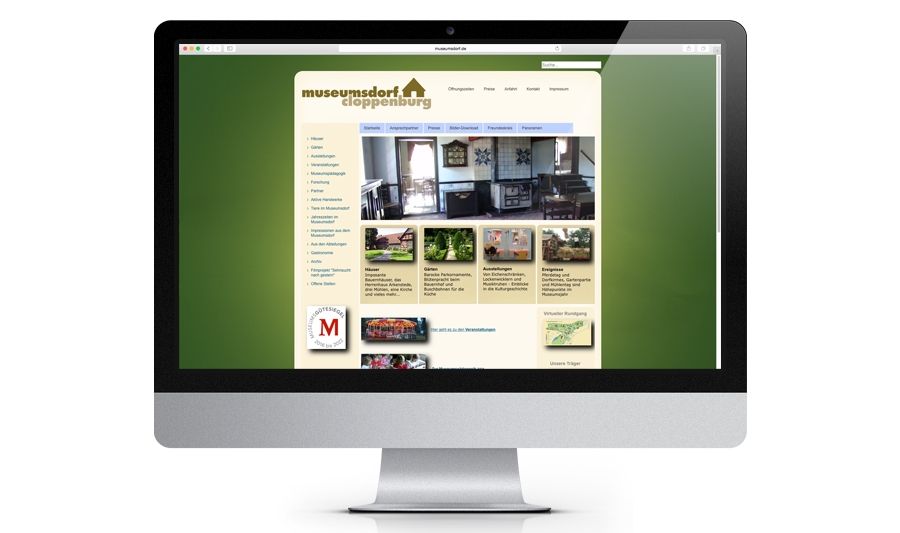 Museumsdorf Cloppenburg - Website