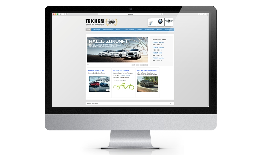 BMW Tekken - Website